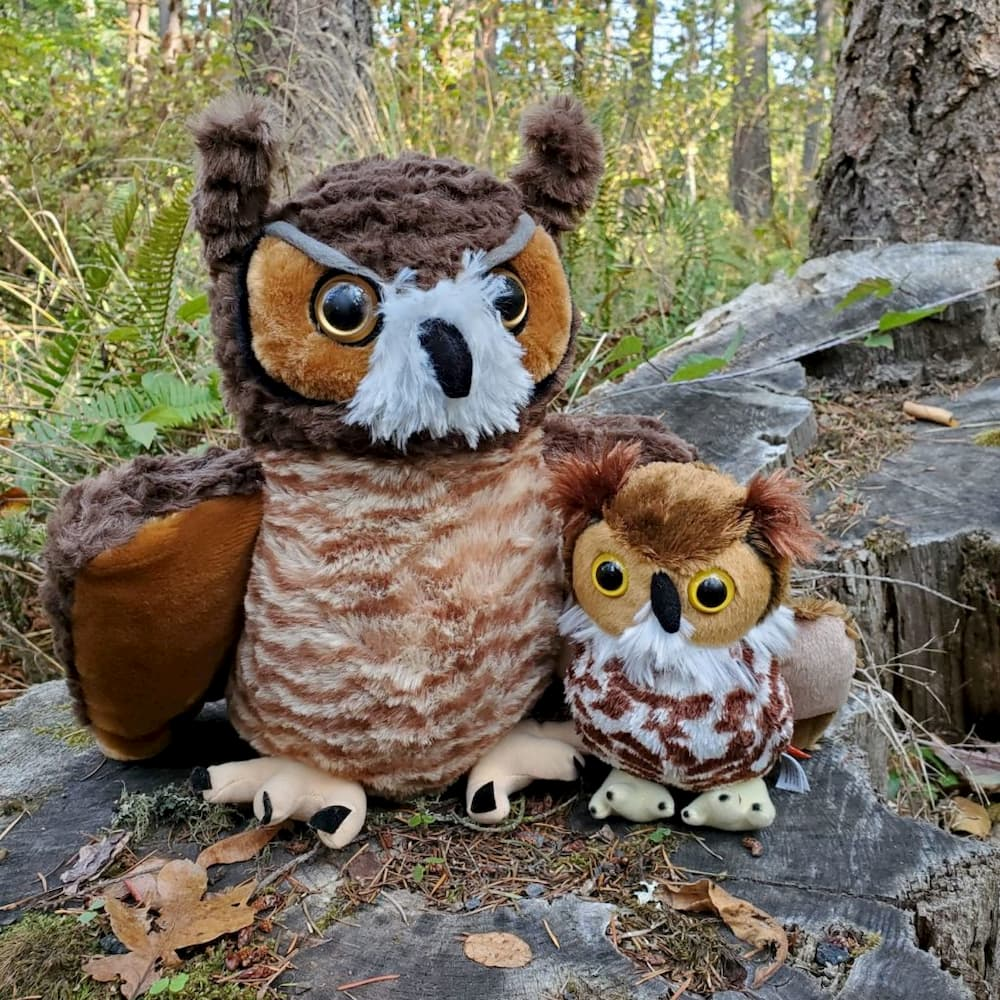 Plush Great Horned Owl