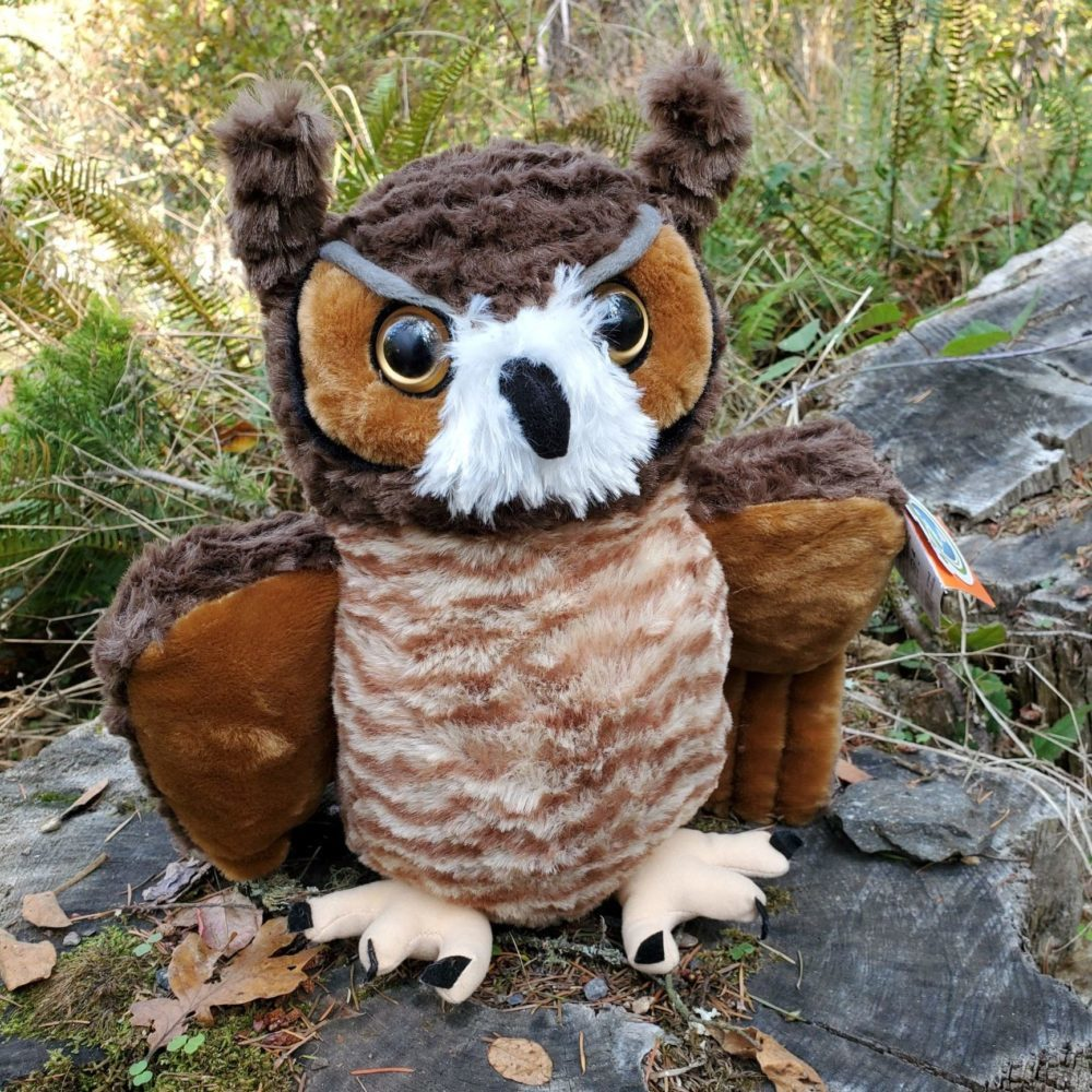 Plush Great Horned Owl